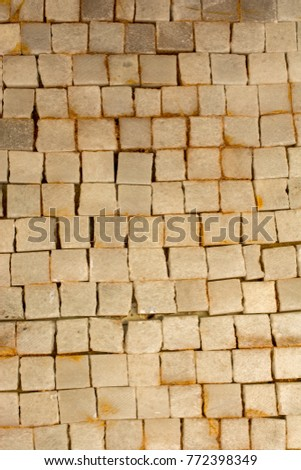 Stone Wall Lined Tiles Mustard Color Stock Photo 135448538 ...