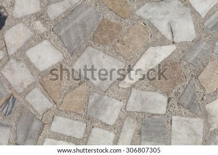 Decorative stone floor. - stock photo