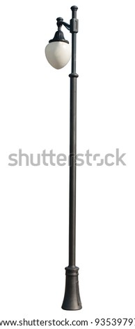 Decorative street lamp-post . isolated on white background. - stock photo