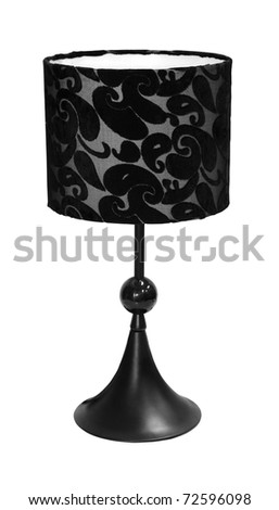 Decorative table lamp isolated with clipping path included - stock photo