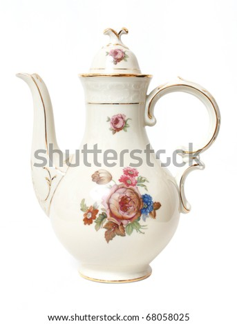 Decorative tea pot - stock photo