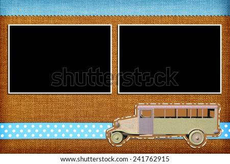 Decorative template with photo frames. Scrapbook, photobook concept - stock photo