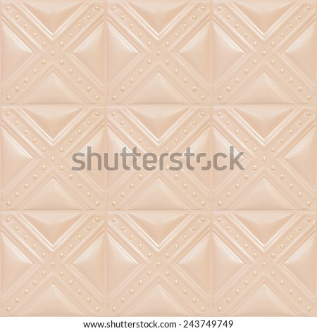 Decorative tile with volume drawing from texture of skin, skin of cream color, nobody. - stock photo