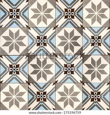Decorative tiles. - stock photo