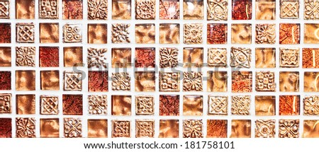Decorative tiles as a detailed background image