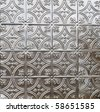 decorative tin tile ceiling of wall covering - stock photo