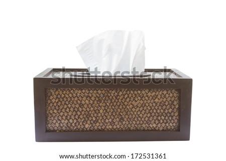 Decorative Tissue Box on white background - stock photo