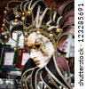 Decorative Venetian carnival mask - stock photo