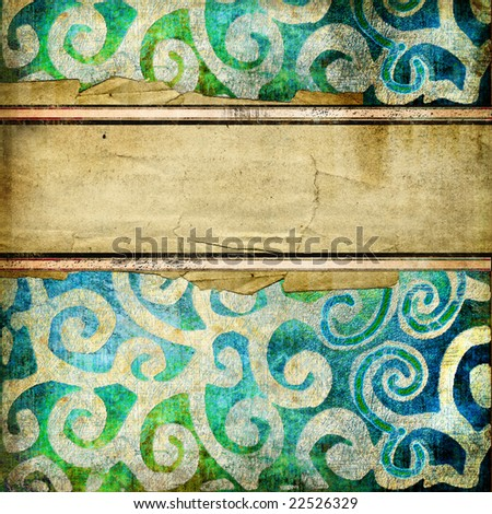 decorative vintage background with place for text - stock photo