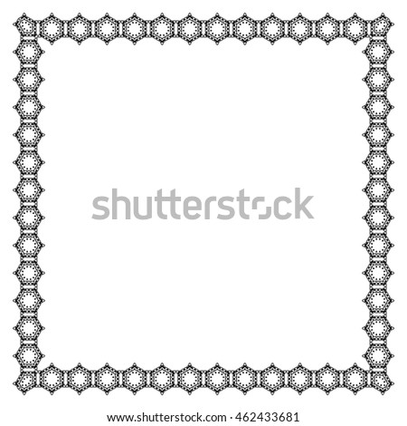 Decorative vintage frame. Border pattern
