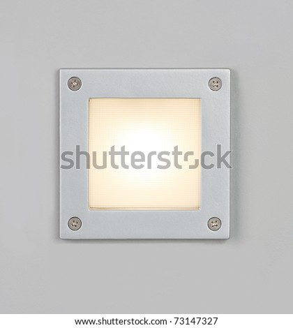 Decorative wall light for modern design building