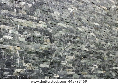 decorative wall of black granite background all