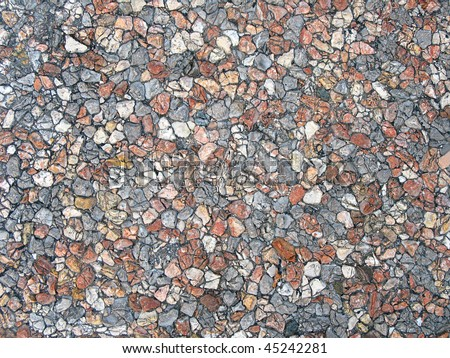 decorative wild stone wall natural background - stock photo