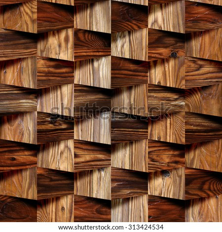 Decorative wooden bricks 3d wallpaper interior stock for 3d wood wallpaper