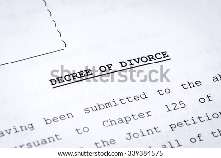 Decree Of Divorce Close-up