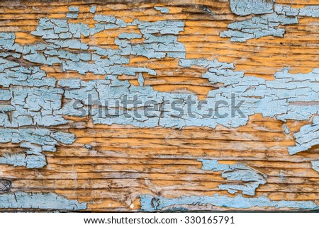 Decrepit blue old wood background - stock photo