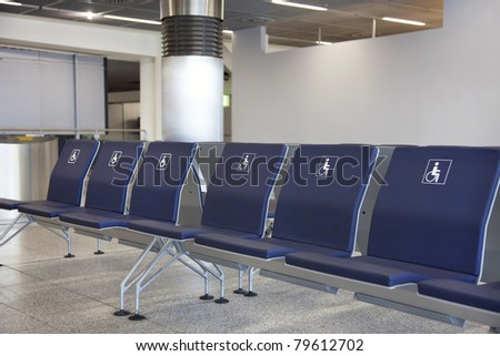 Dedicated chairs to disable passengers in the airport