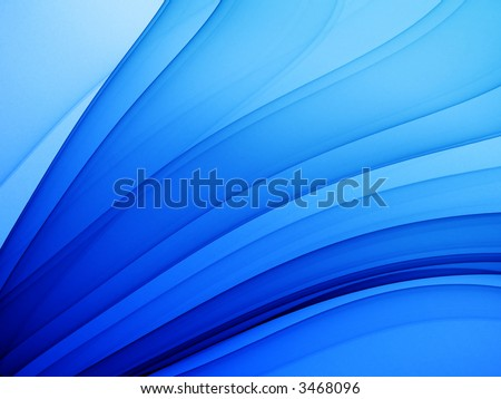 deep blue abstract theme - high quality render - stock photo