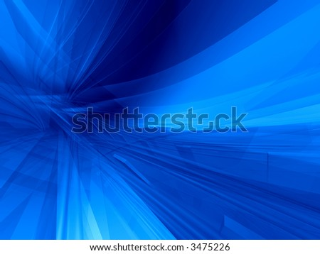 Deep blue action dynamic virtual 3d background - stock photo