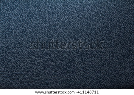 Deep blue leather texture or leather background for design with copy space for text or image. - stock photo