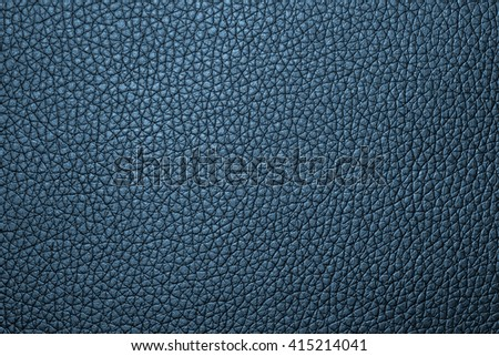 Deep blue leather texture or leather background for design with copy space for text or image.