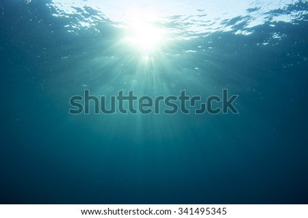Deep blue ocean. - stock photo