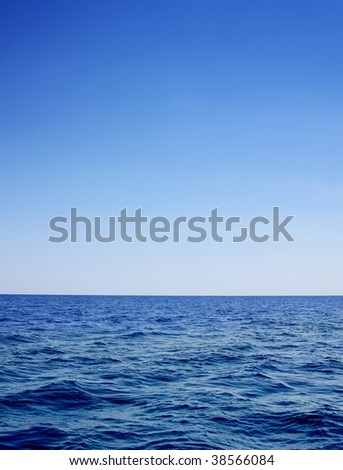 deep blue seascape to be used as a background - stock photo