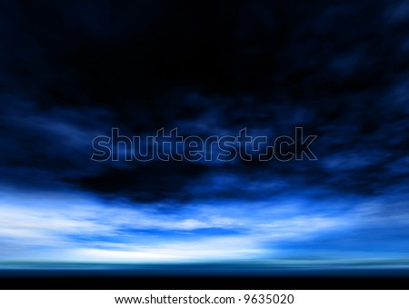 deep blue sky and clouds background - stock photo