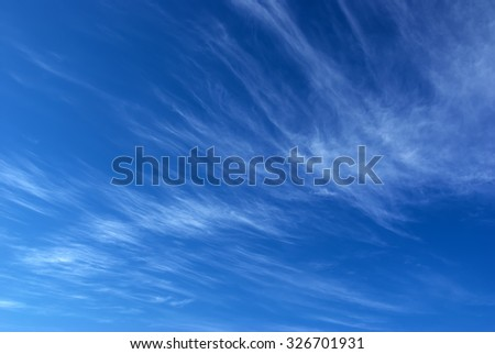 Deep blue sky. Blue sky texture. - stock photo
