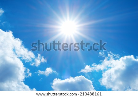 Deep blue sky. Element of design. - stock photo