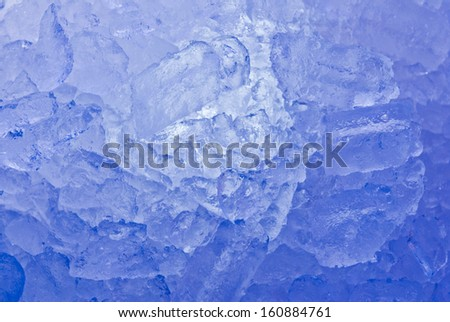 Deep blue Swiss Mountains icicles formation - stock photo