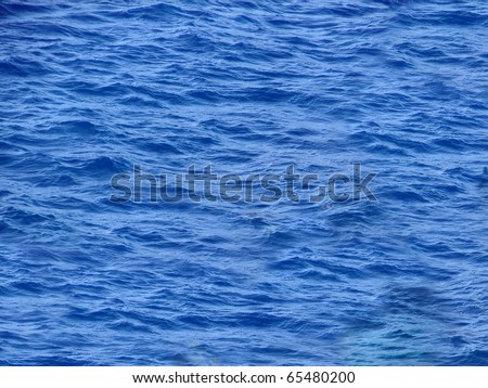 Deep Blue Water - stock photo