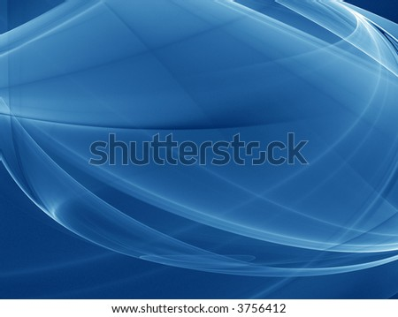 Deep blue - Wavy background illustration - stock photo