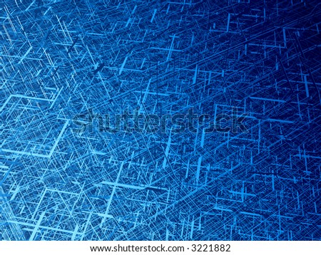 Deep blue wire 3d texture