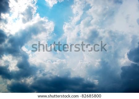 Deep cloud before thunder - stock photo