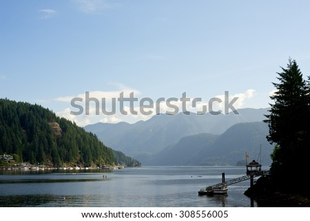 Deep Cove in North Vancouver, Canada - stock photo