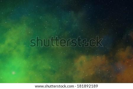Deep dark space nebulae - stock photo