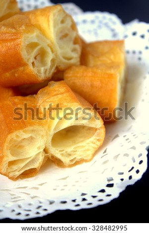 Deep frie bread stick. Famous South East Asia food or dessert