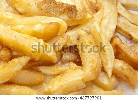 Deep fried chips with salt & vinegar. Mouth watering. 2