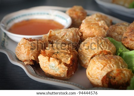 Crab Stuffed Pastries Chinese Food