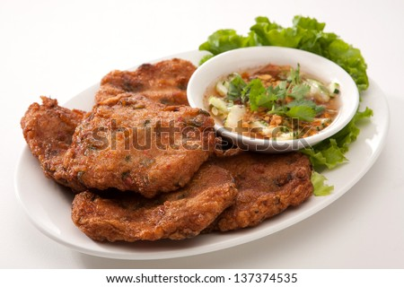 Deep Fried Fish Cake - stock photo