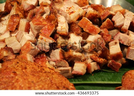 deep fried pork - stock photo
