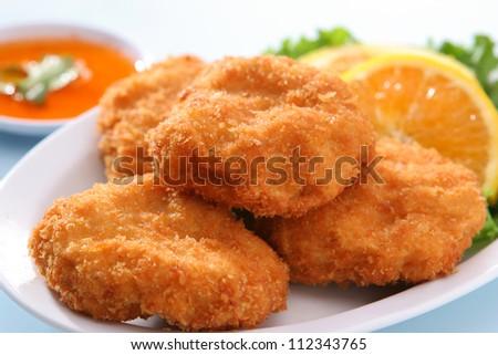 Deep Fried Shrimp cake - stock photo
