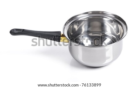 Deep frying pan on isolated on white background