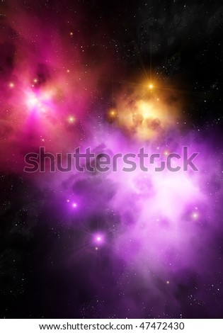 Deep in space - stock photo