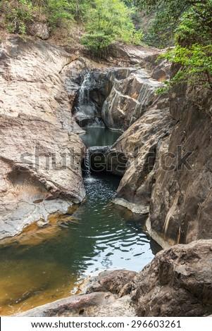 Deep jungle Klong Nonsi Waterfall at Koh Chang, Thailand - stock photo