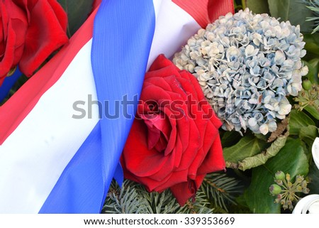 Deep mourning of victims in France - stock photo