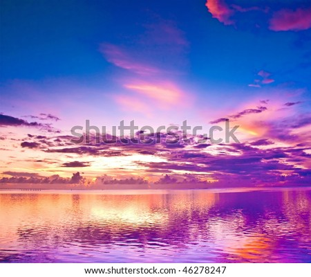 Deep purple sunset