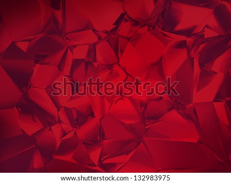 deep red abstract crystal background - stock photo