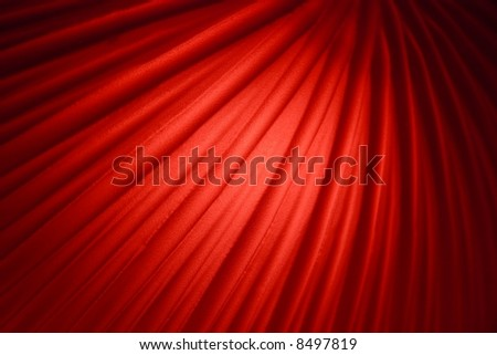 Deep red background decoration with curved lines - stock photo